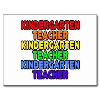 Rainbow Kindergarten Teacher Post Cards