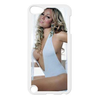 Mariah Carey Custom Case for iPod Touch 5, VICustom iTouch 5 Protective Cover(Black&White)   Retail Packaging Cell Phones & Accessories