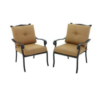 Hampton Bay Westbury Patio Deep Seating Lounge Chair with Tan Cushions (2 Pack) S2 ACQ07900