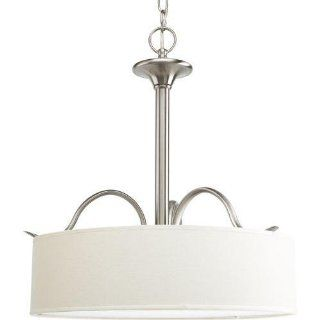 Progress Lighting P3931 09 Inspire Collection 3 Light Pendant, Brushed Nickel   Ceiling Pendant Fixtures