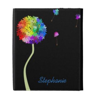 Autism Awareness Puzzle Dandelion iPad Folio Cover