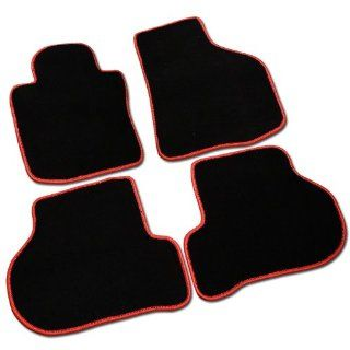 Volkswagen Golf Gti Mk6 Black Floor Mat Mats w/ Red Trim Automotive