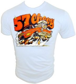 Vintage 1975 Chevrolet '57 Chevy Hot Rod custom chop top T Shirt Clothing
