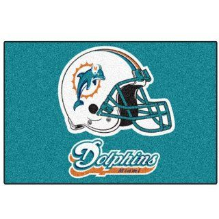 FANMATS NFL Miami Dolphins Nylon Face Starter Rug Automotive