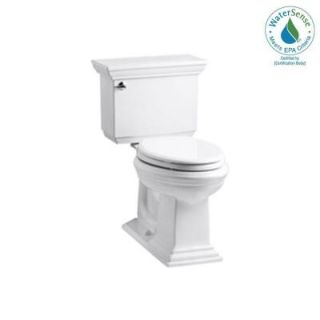 KOHLER Memoirs Stately Comfort Height 2 piece 1.28 GPF Elongated Toilet with AquaPiston Flush Technology in White K 3817 0