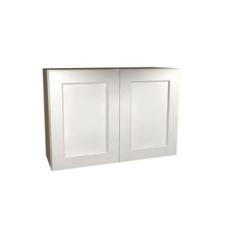 Home Decorators Collection Assembled 36x24x12 in. Wall Double Door Cabinet in Newport Pacific White W3624 NPW