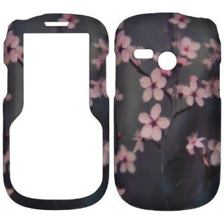 Cherry Blossom Spring Flower Net10 Tracfone Lg501c Lg 501c 501 Faceplate Rubberized Snap on Hard Phone Cover Case Protector Accessory Cell Phones & Accessories