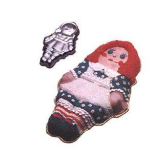 Wilton Storybook Girl Boy Doll Dolly Rag Raggedy Ann Andy Bride Groom Cake Pan (502 968, 1971) Retired Novelty Cake Pans Kitchen & Dining