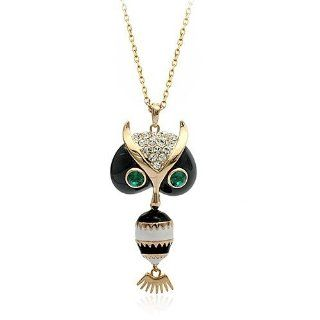 Swarovski Crystal 18k Gold Plated Multi color Exquisite Owl Necklace Z#1859 Zg503d74 Jewelry