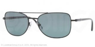 Persol PO2420S Sunglasses 522/4N Shiny Black (Blue Photo Polarized Lens) 56mm Clothing