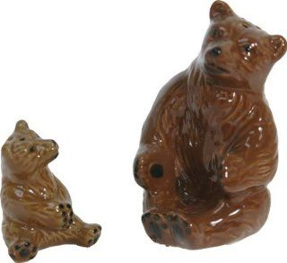Ceramic Mama Bear with Baby Bear Salt and Pepper Shakers #522  Other Products
