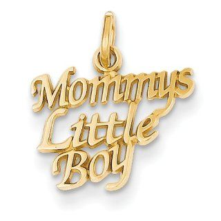 14k Mommys Little Boy Charm   Measures 18.1x15.6mm   JewelryWeb Toe Rings Jewelry