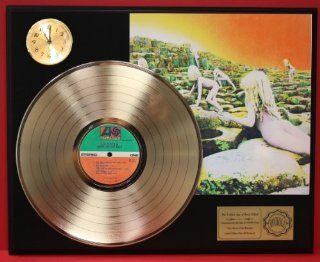 Led Zeppelin Houses Of The Holy LTD Edition 24Kt Gold LP Record & Clock Display Quality Collectible Entertainment Collectibles