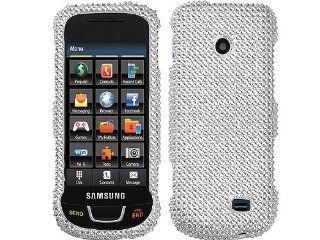 Silver Bling Rhinestone Diamond White Clear Crystal Hard Protector for Samsung SGH T528G Cell Phones & Accessories