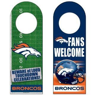 "Denver Broncos Official NFL 13""x4"" Wood Sign by Wincraft  Sports Fan Street Signs  Sports & Outdoors"
