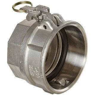 "Dixon RDWSP400EZ Stainless Steel 316 EZ Boss Lock Cam and Groove Hose Fitting for Socket Weld to Schedule 40 Pipe, 4"" Coupling, 4.530"" Bore Diameter Camlock Hose Fittings"