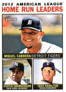 2013 Topps Heritage MLB Trading Card (In Protective Screwdown Case) # 10 Miguel Cabrera/Curtis Granderson/Josh Hamilton (LL) Sports Collectibles