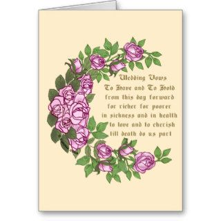 Wedding Vows Greeting Cards