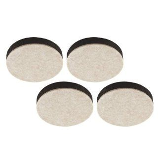 Stanley S845 532 2 1/2 Inch Foam Backed Self Leveling Oatmeal Furniture Sliders Pack of 4   Furniture Pads