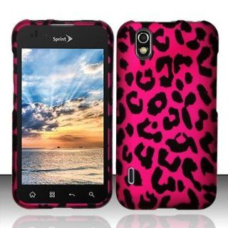 TRENDE   Pink Leopard Hard Snap On Case Cover Faceplate Protector for LG Optimus Black by Straight Talk + Free Texi Gift Box Cell Phones & Accessories