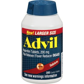 Advil Ibuprofen Pain Reliever/Fever Reducer 200mg Coated Tablets