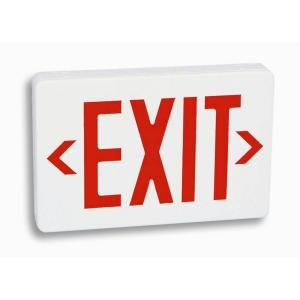 Filament Design Nexis 1 Light Thermoplastic LED Universal Mount Red Exit Sign VEXUBPWBWHR27