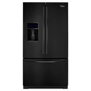 Whirlpool 26.1 cu. ft. French Door Refrigerator in Black WRF736SDAB
