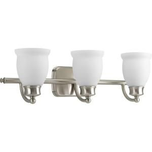 Progress Lighting Leeland Collection Brushed Nickel 3 light Vanity Fixture P2995 09