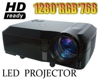 NEW LCD LED HD 1280*768 Projector 2600 Lumens For Office & Home theatre(Films/Games) 3*HDMI 2*USB VGA AV PC Laptop Blu ray Support 1080P High Brightness Electronics