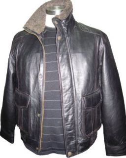 Paccilo 10221 Soft Real Lambskin Leather Flight Bomber Jacket Military Coats And Jackets Clothing