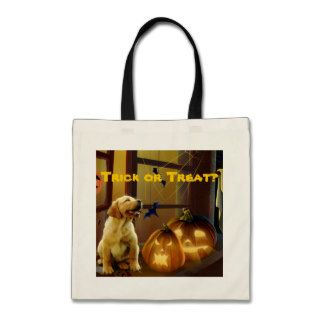Labrador Retriever Puppy Halloween Tote Bag