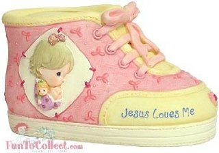 Precious Moments Jesus Loves Me Baby Shoe Bank Girl   Toy Banks