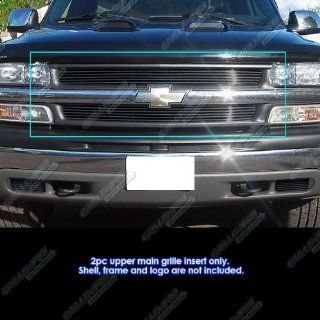 Custom Fits Chevy Silverado 1500/00 06 Suburban/Tahoe Black Billet Grill Automotive