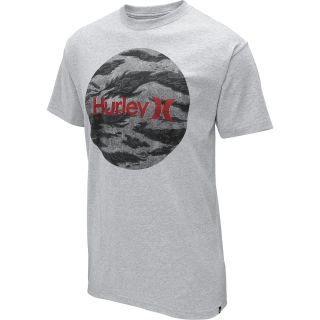 HURLEY Mens Flammo Brand Classic Short Sleeve T Shirt   Size Large, Heather