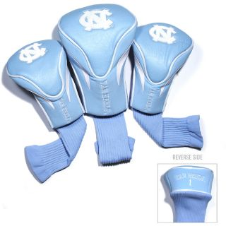 Team Golf University of North Carolina Tar Heels 3 Pack Contour Head Covers