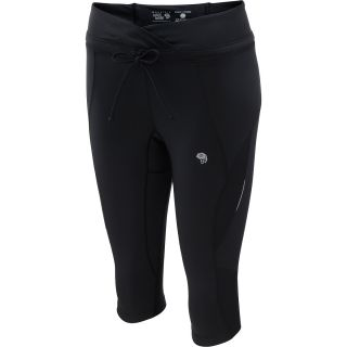 MOUNTAIN HARDWEAR Womens Mighty Power Capris   Size Medium, Black
