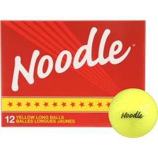 NOODLE Yellow Long Golf Balls   12 Pack, White/magenta/blue