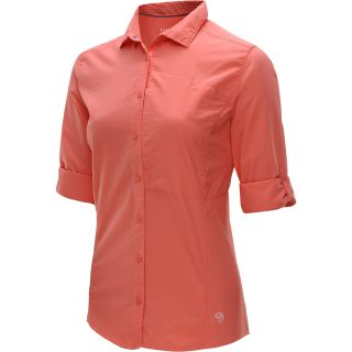 MOUNTAIN HARDWEAR Womens Canyon Long Sleeve Shirt   Size Large, Melon