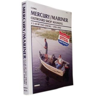 Clymer Mercury/Mariner Outboard Shop Manual 2.5 60 HP Two Stroke (1200725)