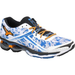 MIZUNO Mens Wave Creation 15 Running Shoes   Size 9.5, White/mango