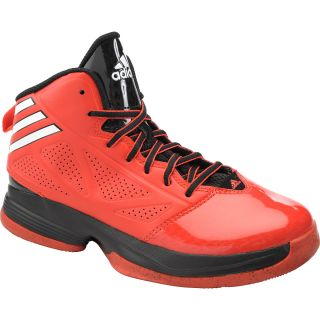 adidas Boys Mad Handle Mid Basketball Shoes   Size 5, Red/white/black