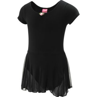 FUTURE STAR Capezio Girls Short Sleeve Dance Dress   Size Xl, Black