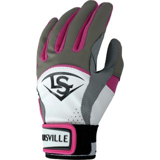 LOUISVILLE SLUGGER Diva Youth Softball Batting Gloves   Size Small, Hot Pink