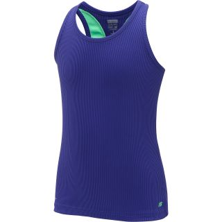 NEW BALANCE Girls Focus Rib Tank Top   Size Large, Dk.purple