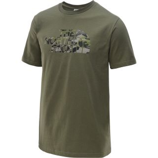 THE NORTH FACE Mens Water Camo Short Sleeve T Shirt   Size Large, Olive Green