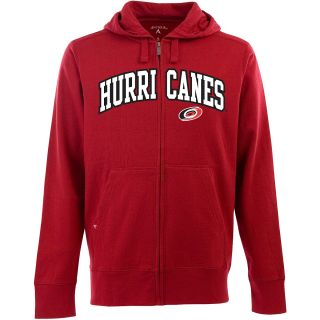 Antigua Mens Carolina Hurricanes Full Zip Hooded Applique Sweatshirt   Size