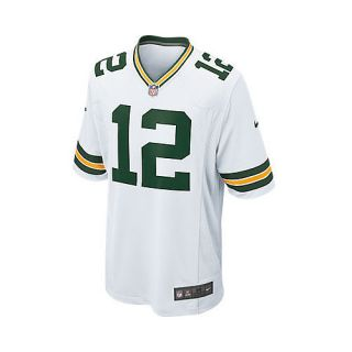 NIKE Mens Green Bay Packers Aaron Rodgers Game White Jersey   Size Medium,