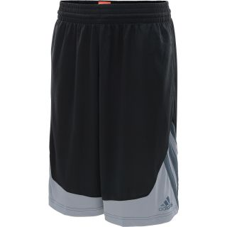 adidas Mens Superstar Basketball Shorts   Size Large, Black/grey