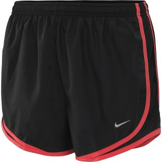 NIKE Womens Tempo Running Shorts   Size Large, Black/red/silver