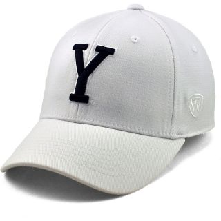 TOP OF THE WORLD Mens BYU Cougars Premium Collection White One Fit Flex Cap,